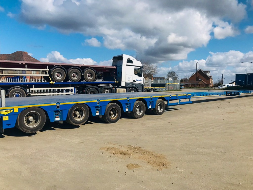 Broshuis 5 Axle semi low loader