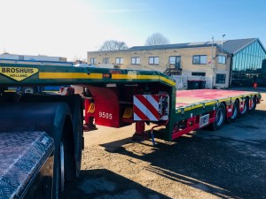 Broshuis SL Extendible 4 Axle Step Frame trailer