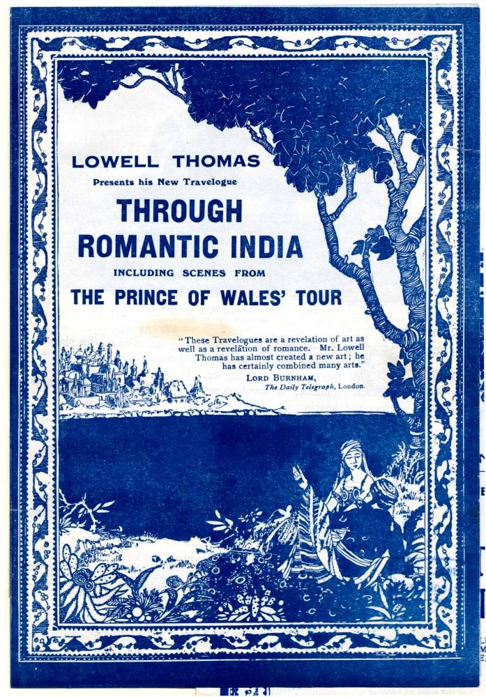 Through Romantic India with Lowell Thomas by Ian Matzen