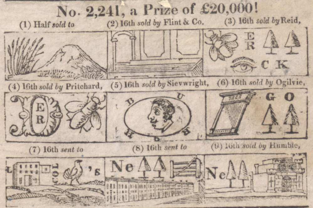 Lottery puffs: a hieroglyphical enigma by Gill Short (4/6)