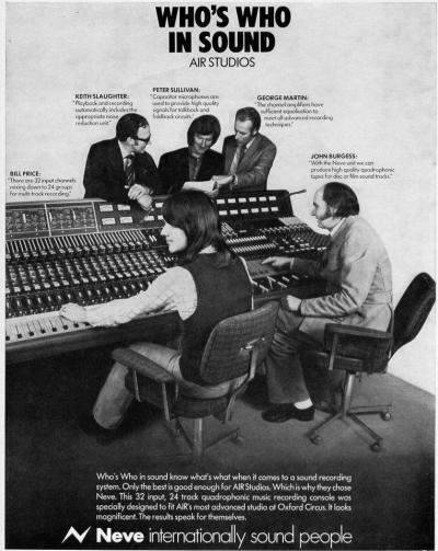 1970's AIR Studios advert
