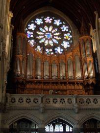 The Rose Window & Pipe Organ.
