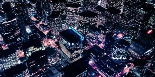 city at night future of advertising