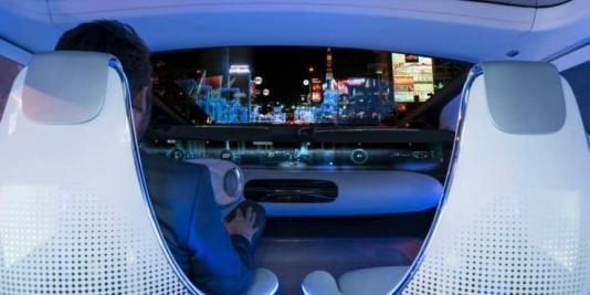 mercedes self-driving car interior