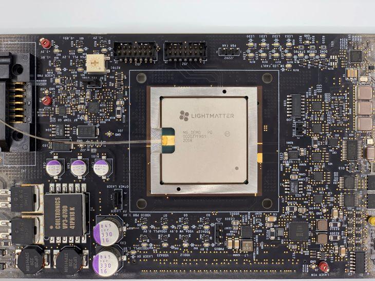 Lightmatter photonic computer chip