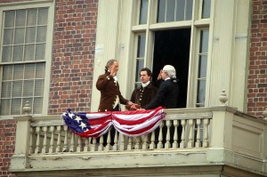 Secrets of the Founding Fathers. Washington sworn in as president.