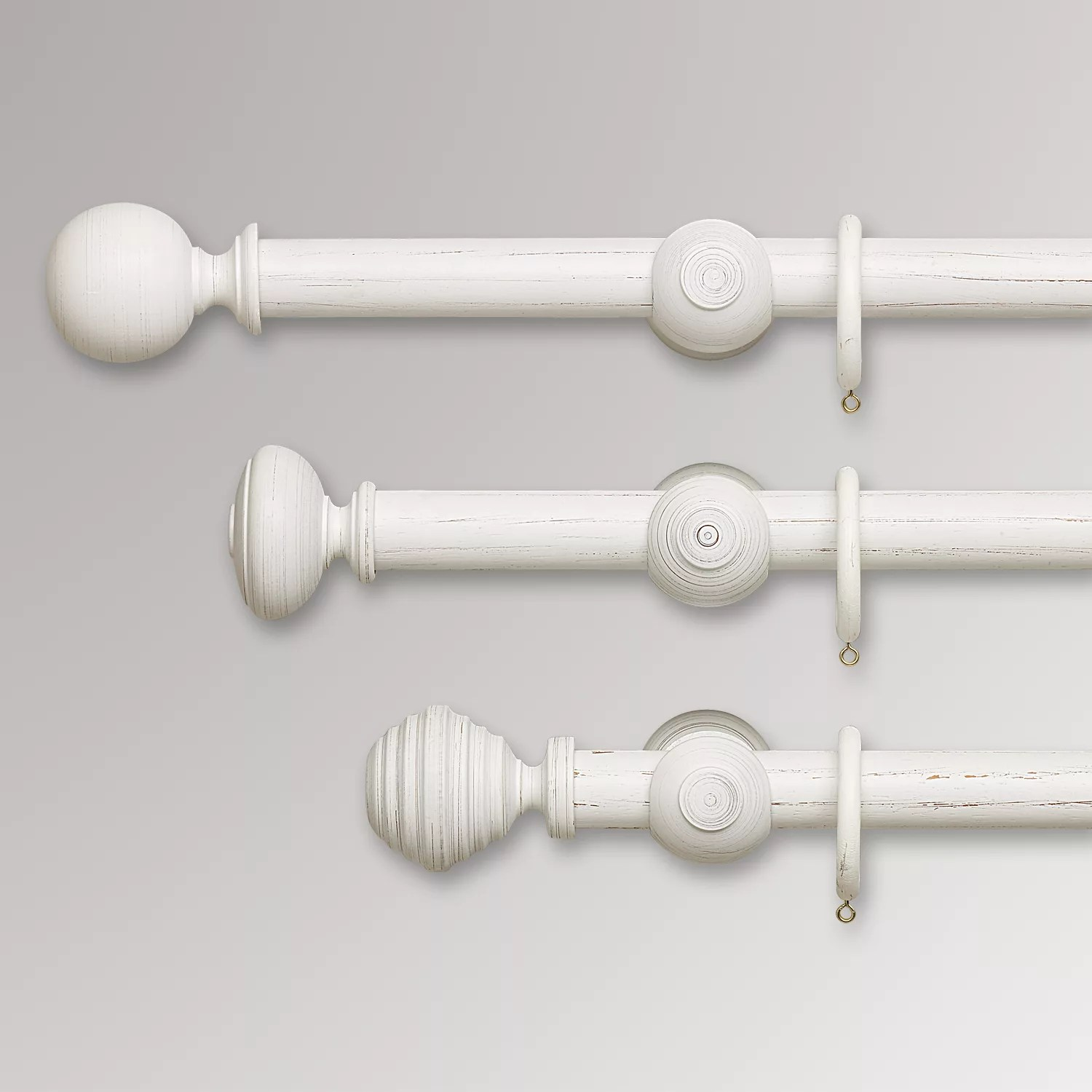 john lewis partners scratched white wood curtain poles dia 35mm