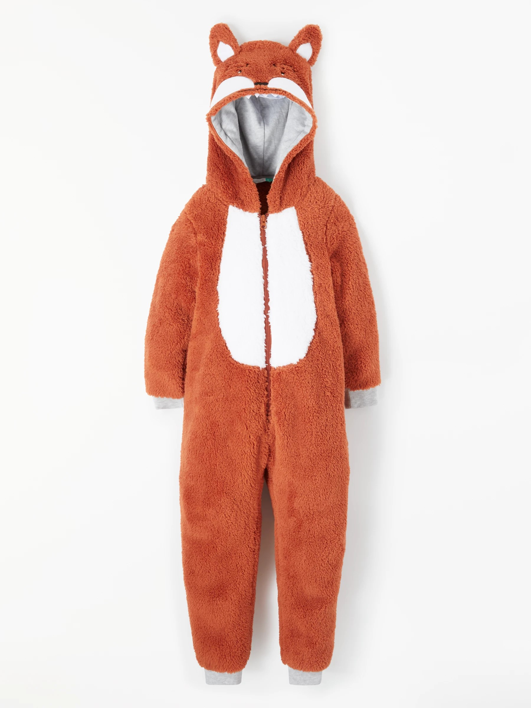 Image of: Bear John Lewis Partners Boys Fox Fleece Onesie Orange Mamabearph Boys Nightwear Pyjamas Robes Onesis John Lewis