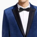 Kin Slim Fit Velvet Dress Jacket Sky Blue At John Lewis Partners