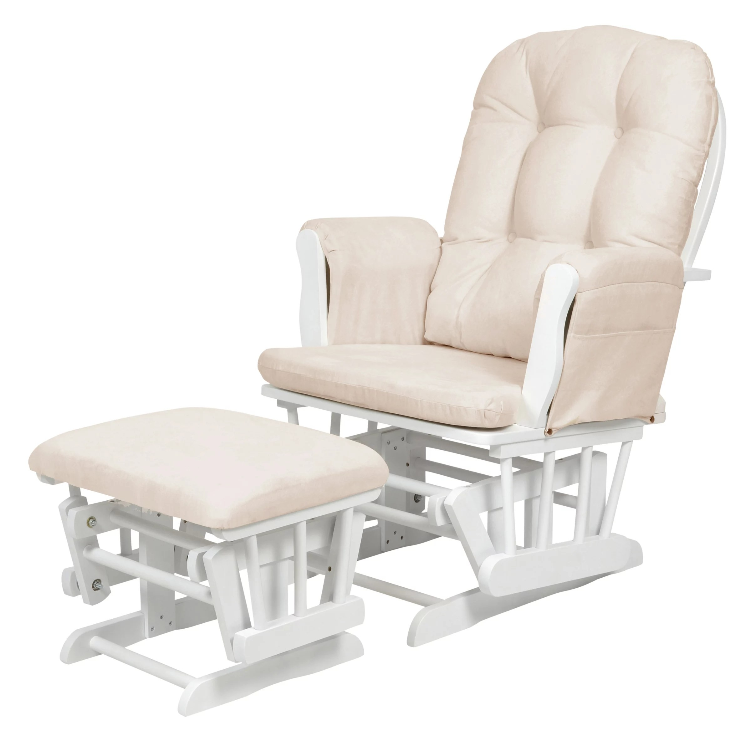 Kub Haywood Glider Nursing Chair And Footstool White
