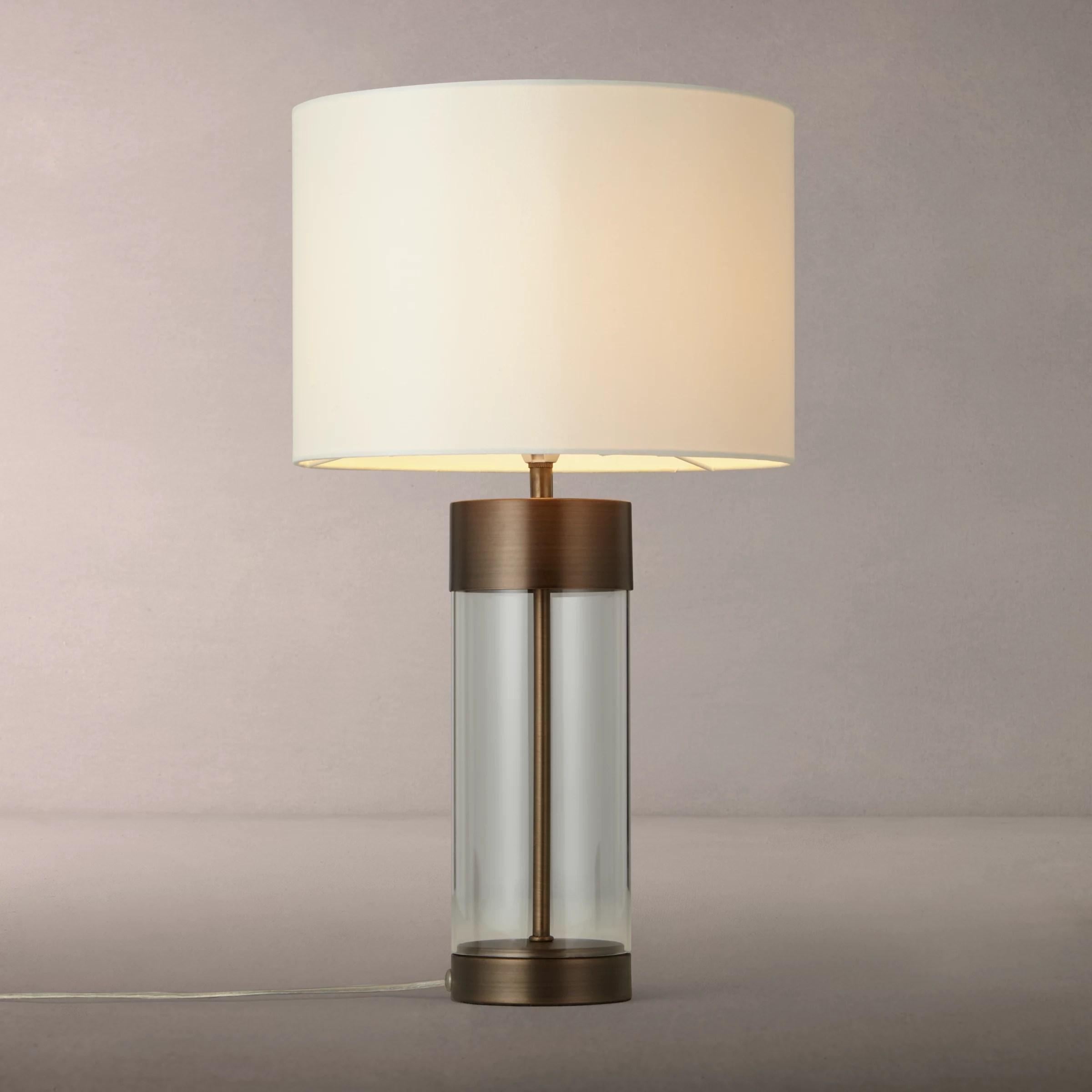john lewis partners raif glass table lamp antique bronze