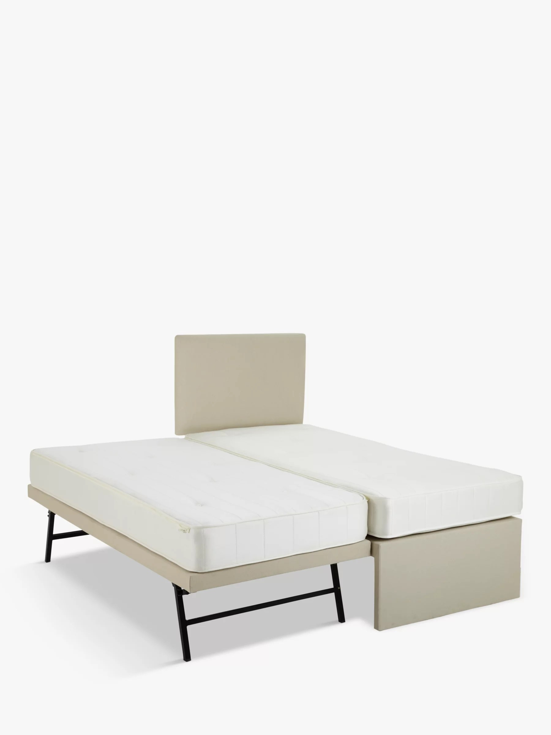 John Lewis Partners Savoy Two Pocket Spring Trundle Guest Bed Small Single At John Lewis Partners