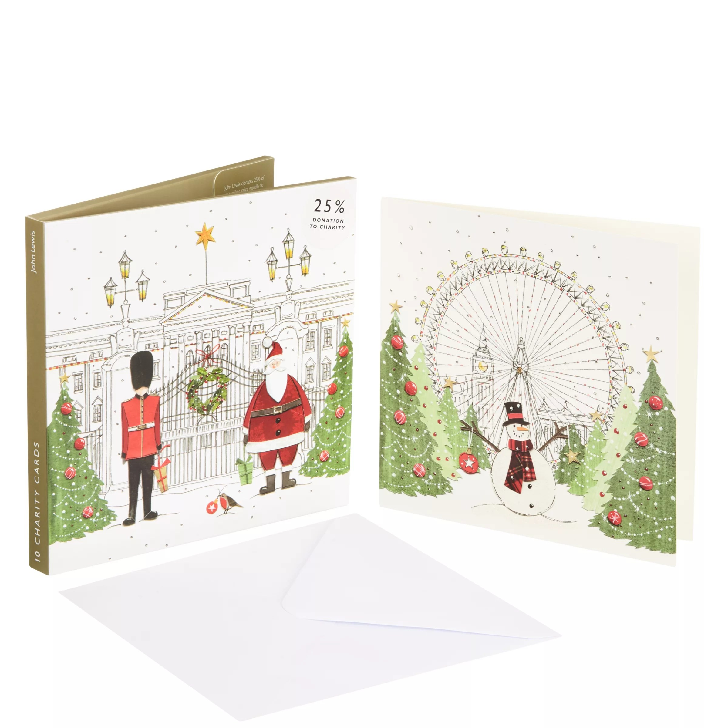 Buy John Lewis Festive London Charity Christmas Card Pack