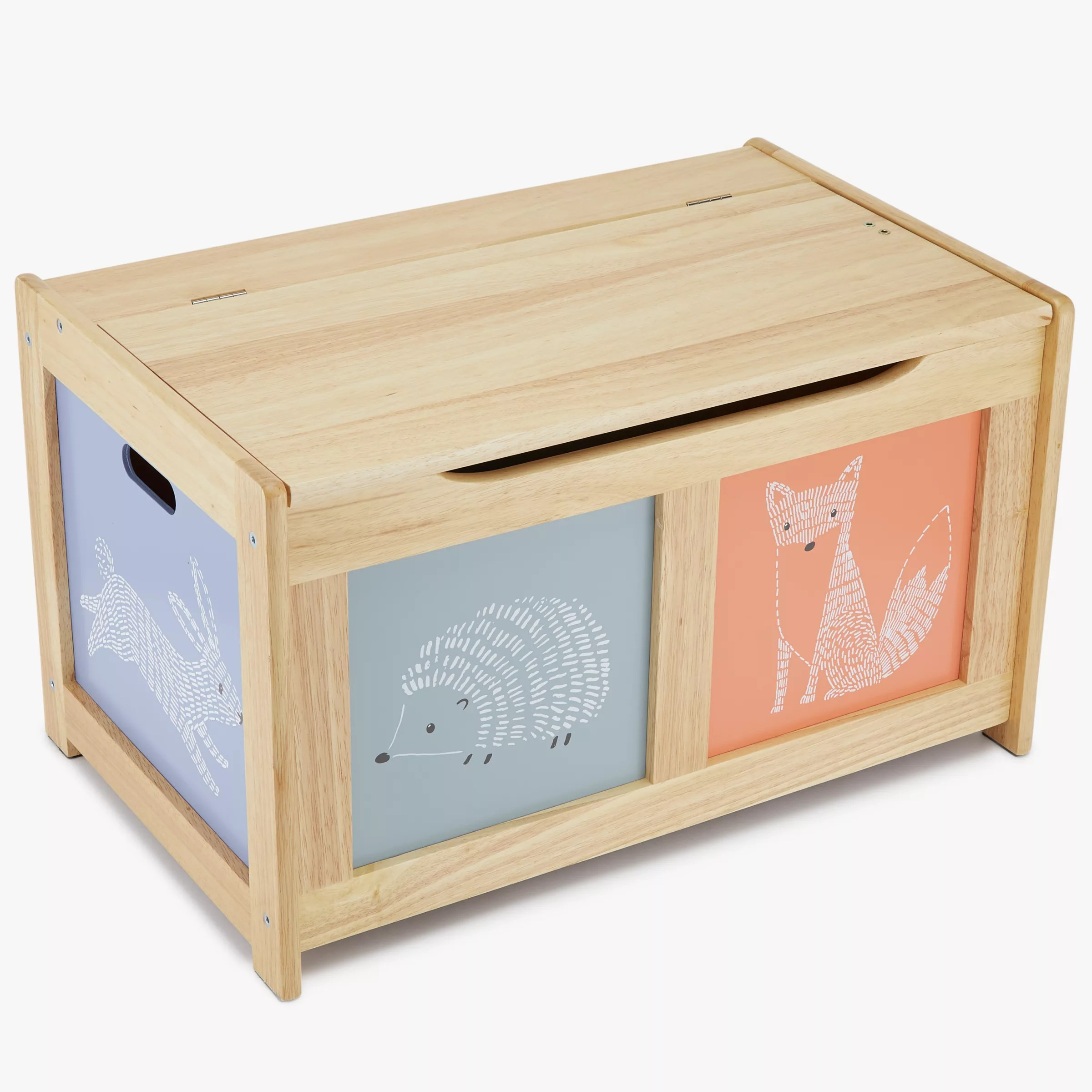John Lewis Amp Partners Forest Friends Toy Chest Natural At