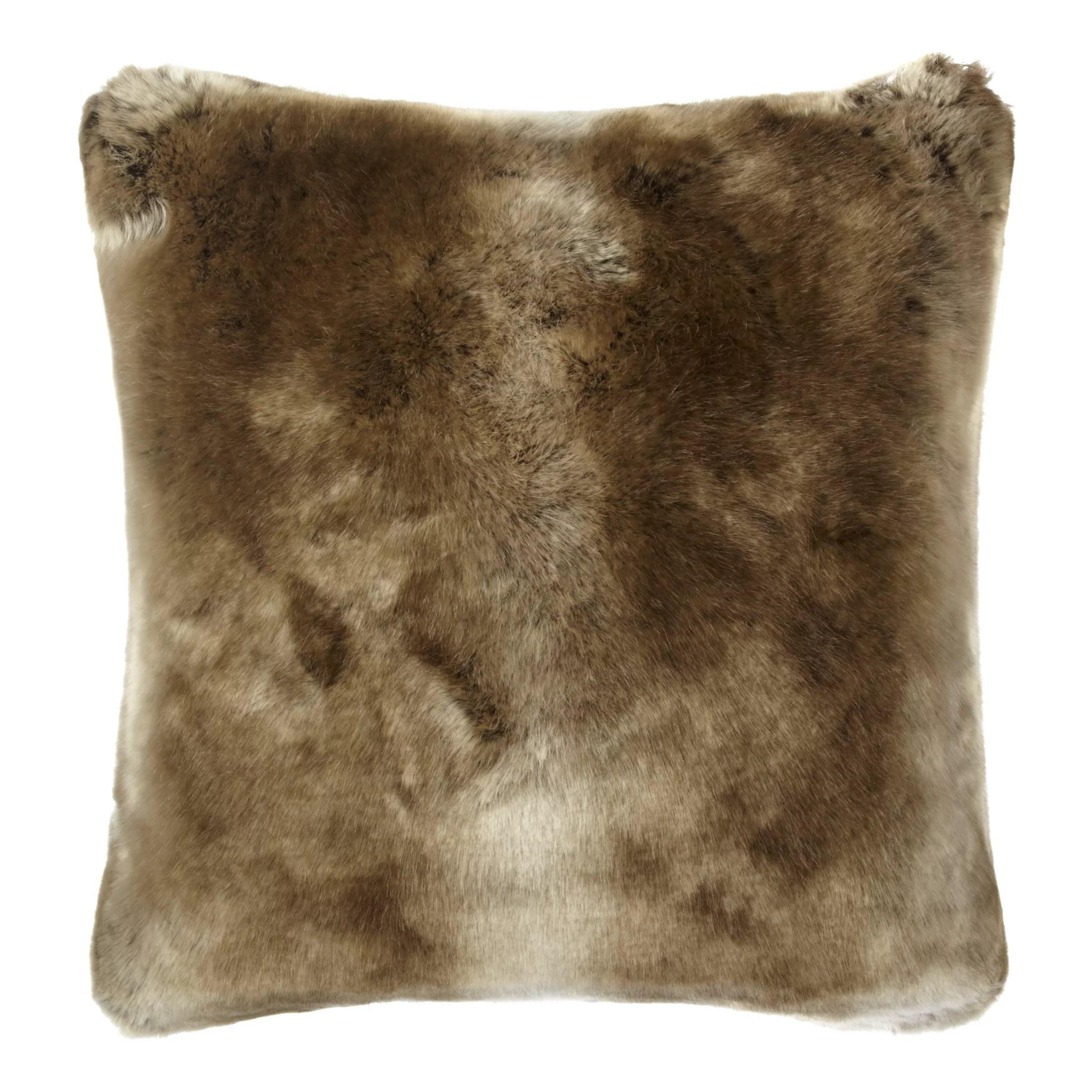 john lewis partners faux fur cushion golden brown