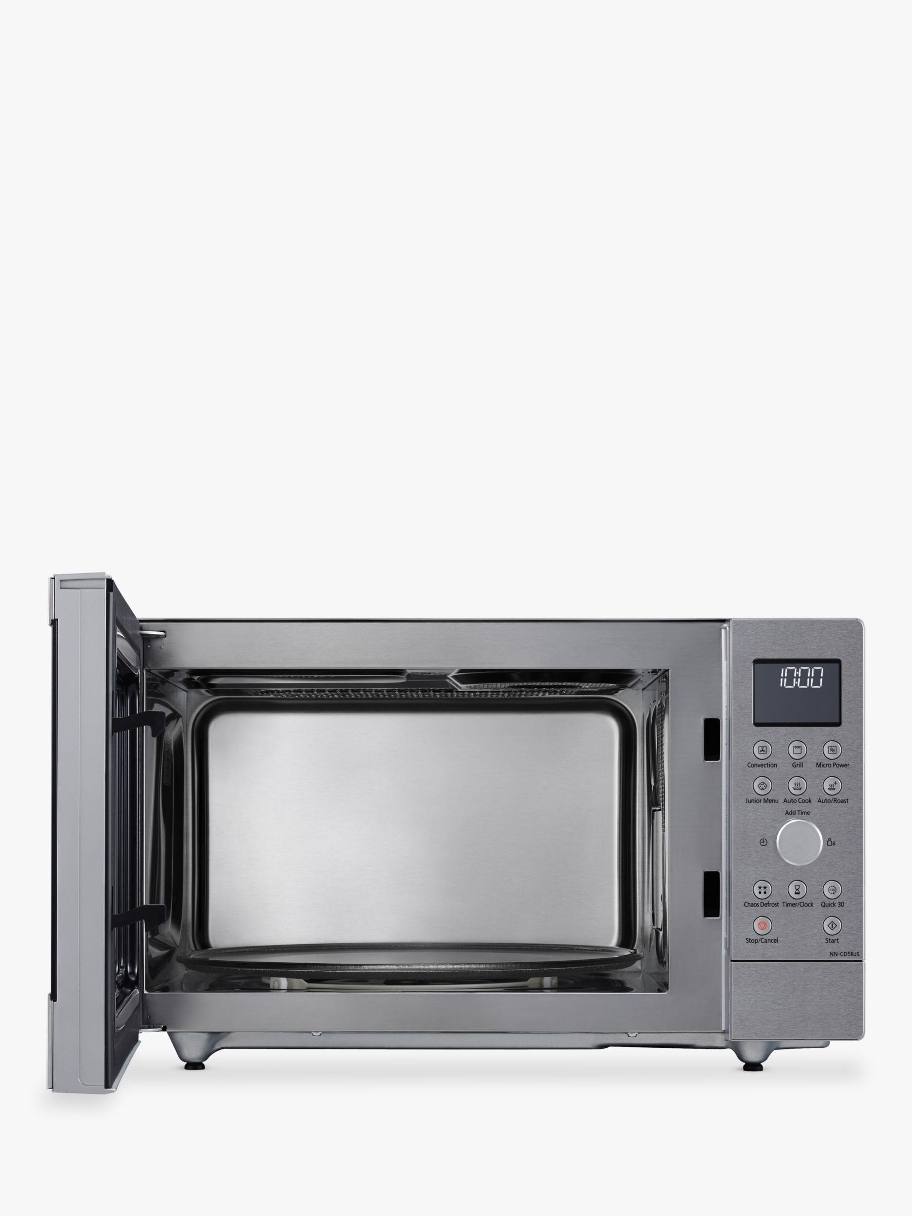 panasonic nn cd58jsbpq 27l slimline combination microwave oven stainless steel