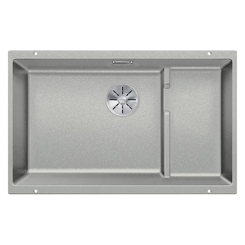 blanco subline 700 1 5 bowl undermounted composite granite kitchen sink with left hand bowl pearl grey