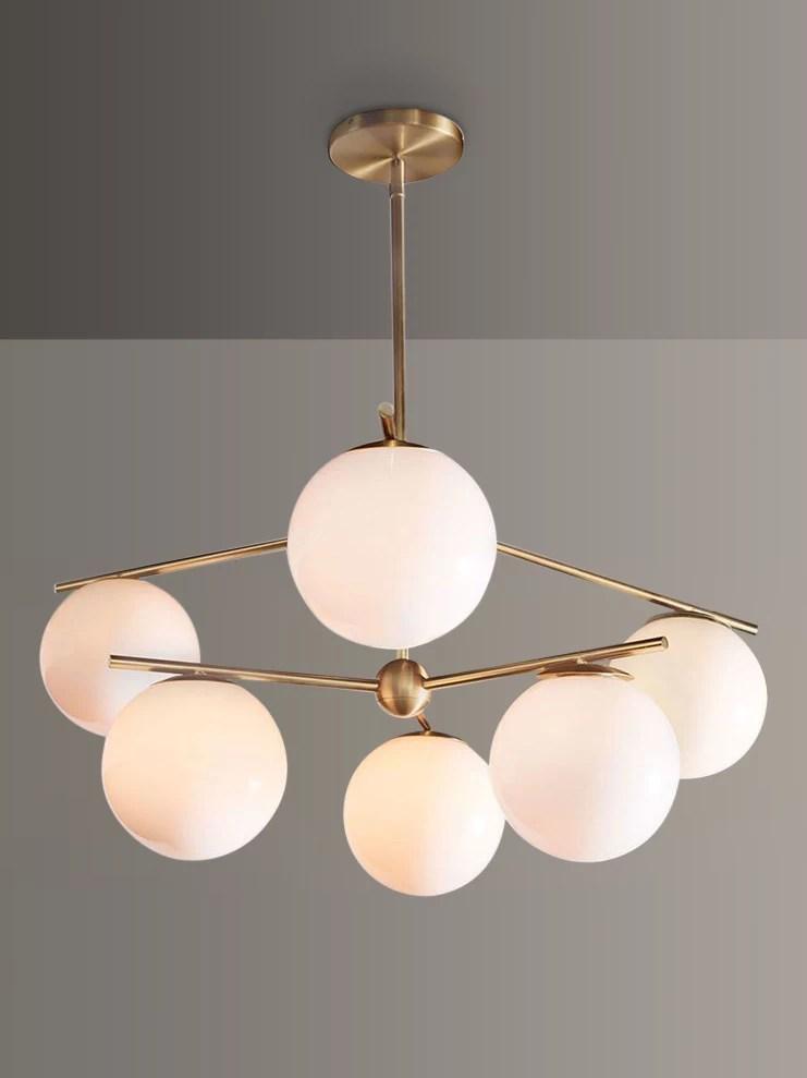 west elm sphere stem ceiling light brass