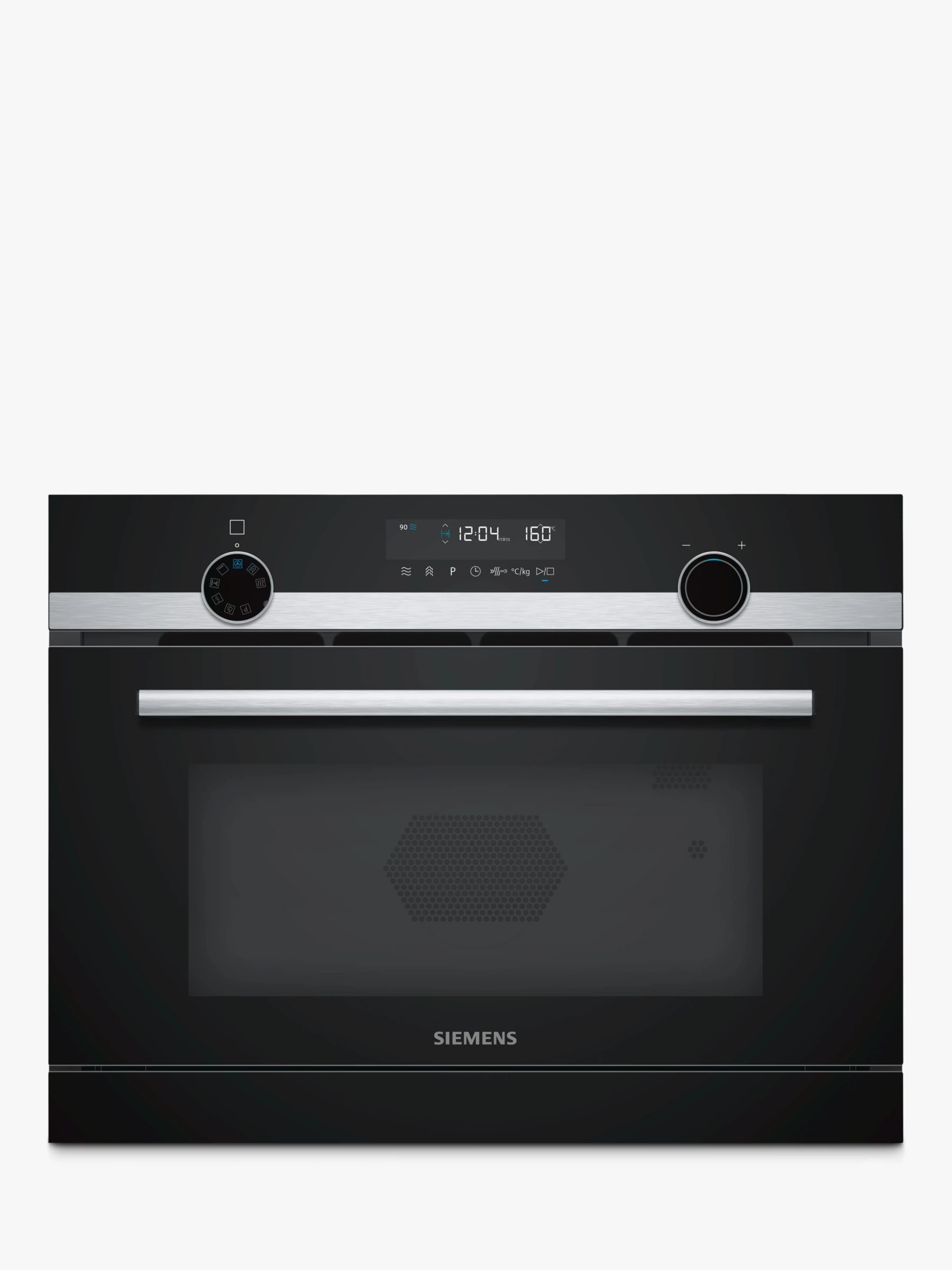 siemens iq500 cp565ags0b built in combination microwave with steam stainless steel black