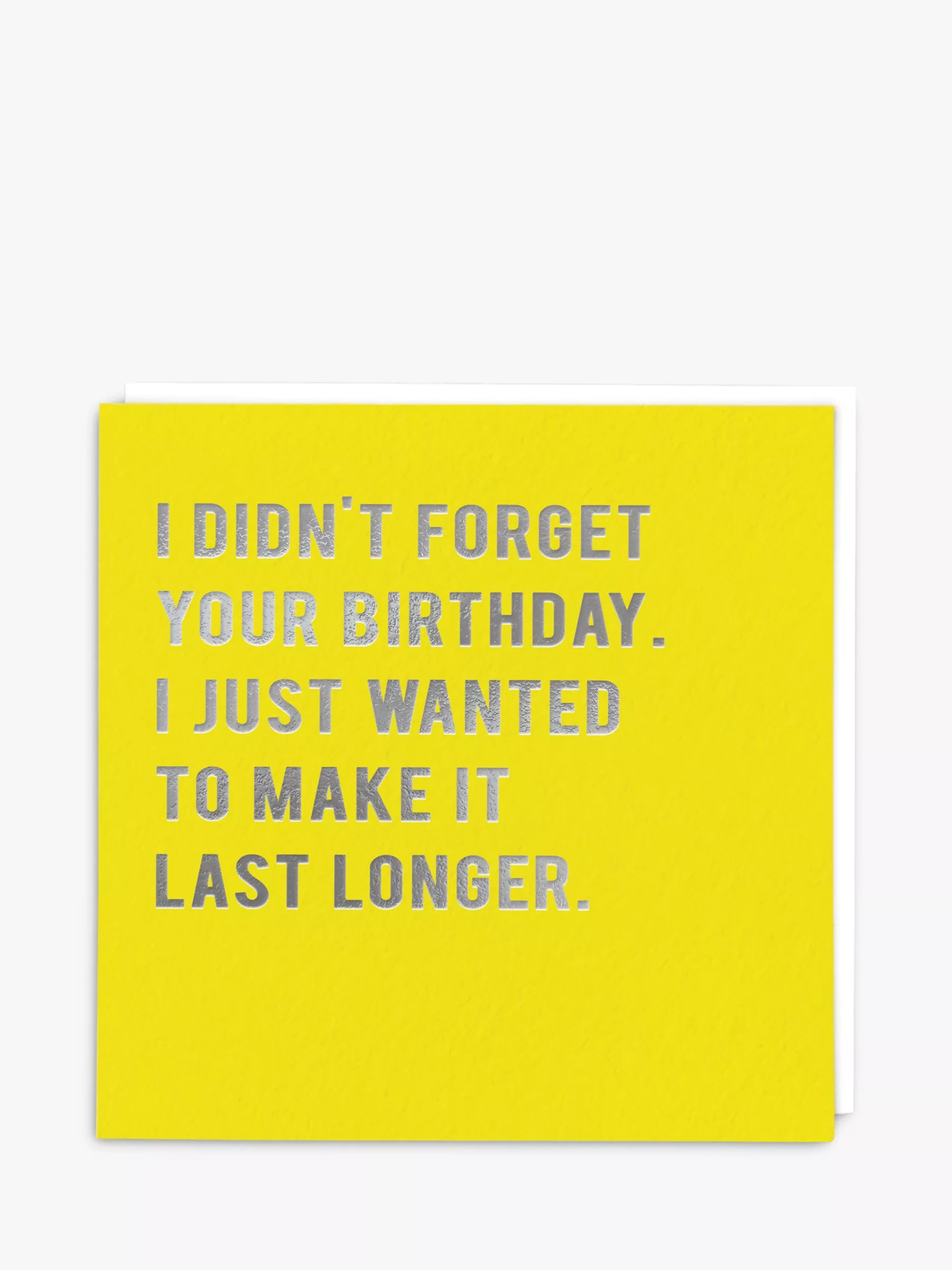 Redback Cards Last Longer Belated Birthday Card
