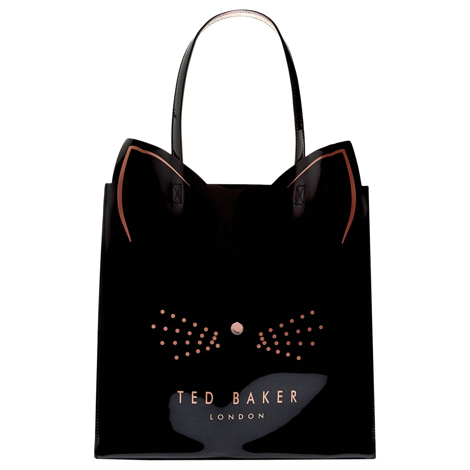 Ted Baker Felicon Cat Large Icon Shopper Bag Black At