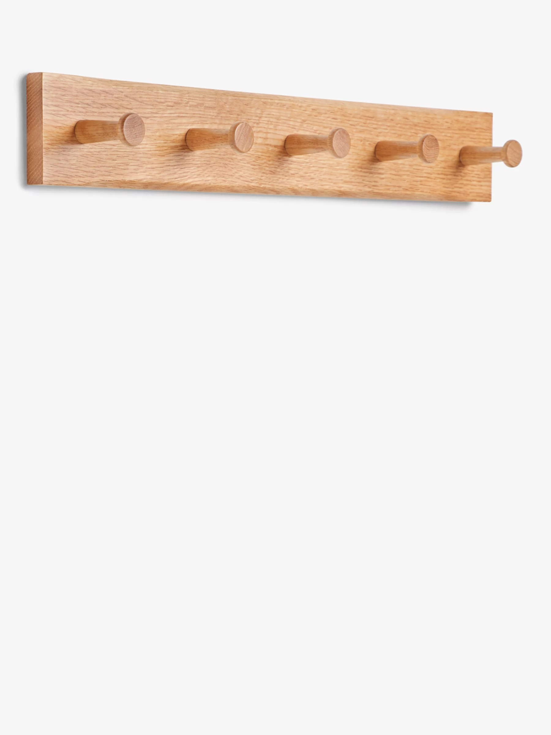 john lewis partners shaker oak coat rack natural