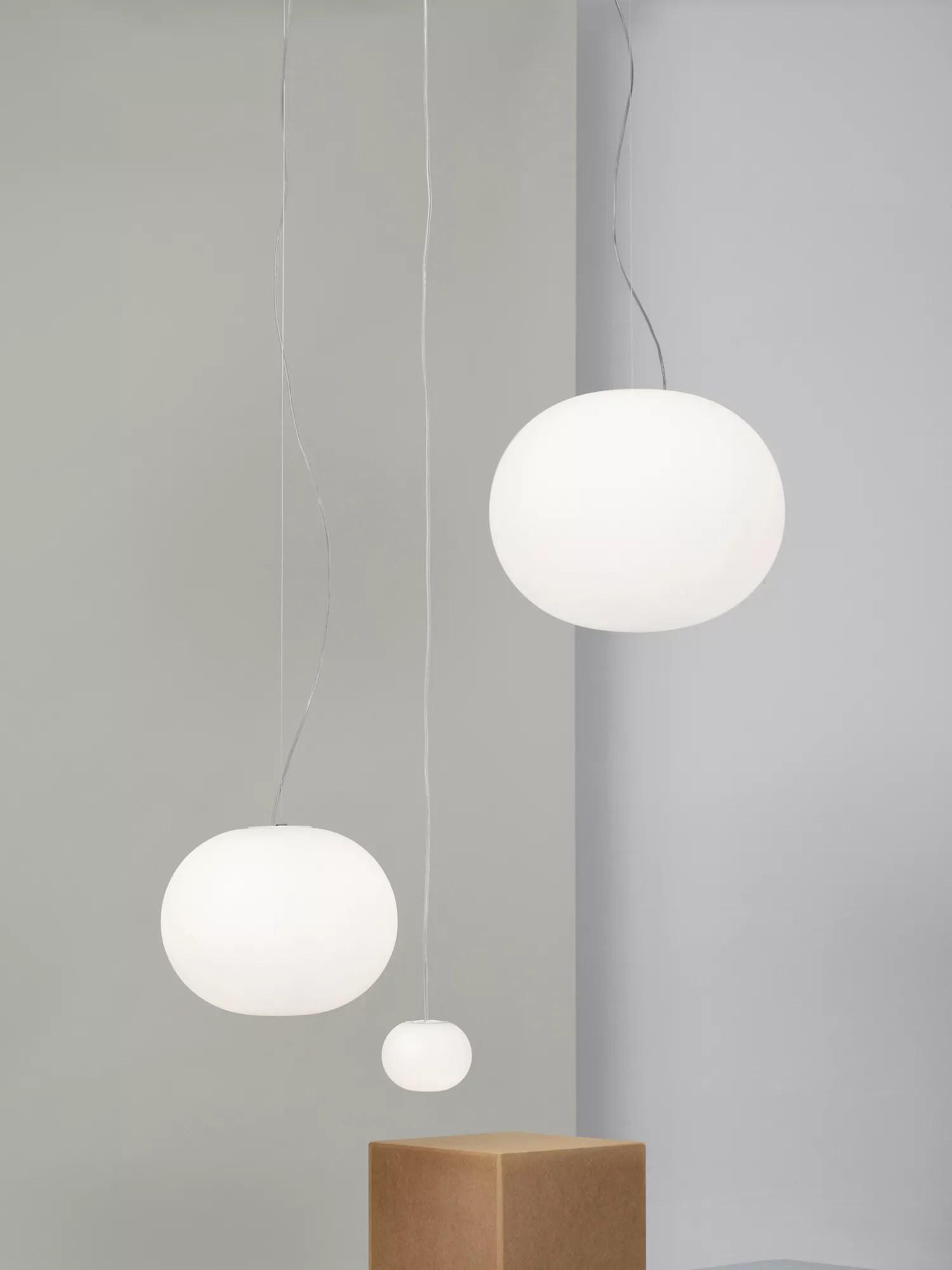 Flos Glo Ball S2 Ceiling Light, White at John Lewis & Partners