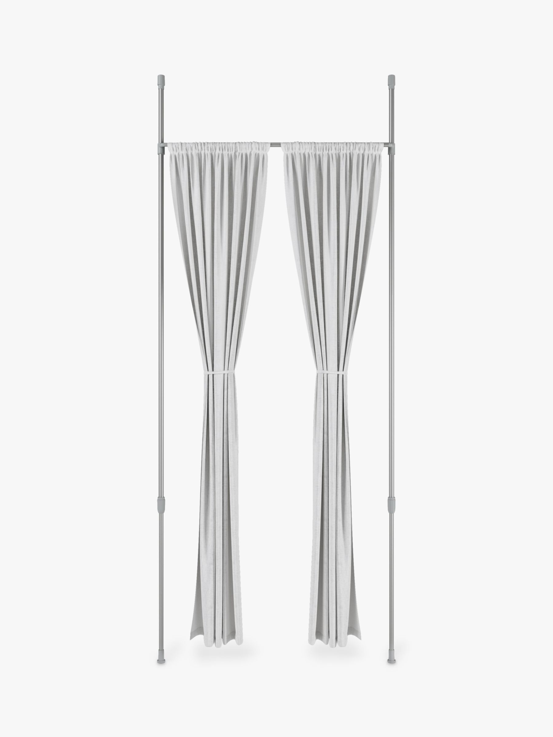 umbra anywhere extendable curtain rod and room divider