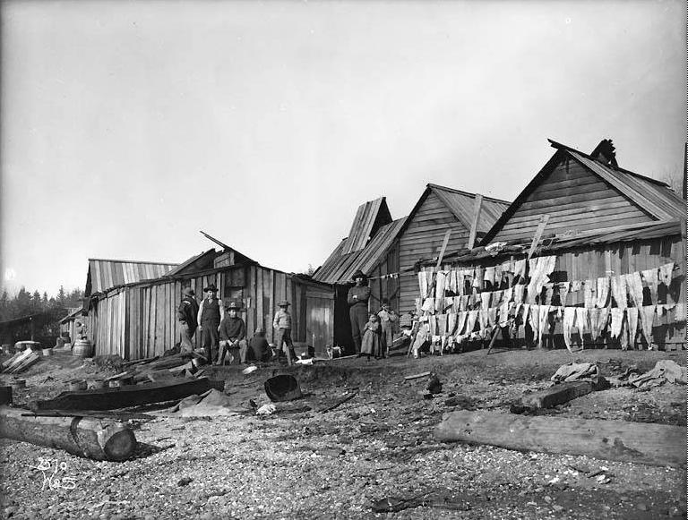Fishing camps on Wing Point, Bainbridge Island circa 1905