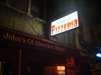 John's Pizzeria of Bleacker Street