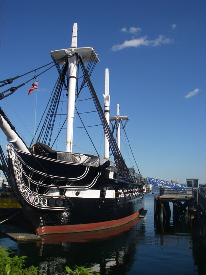 Old ironsides - The USS Constitution - Officially the oldest warship afloat and still an operational US Navy ship