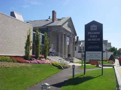 Pilgrim Hall Museum, proudly claiming to be the oldest 'continually running' museum in the USA