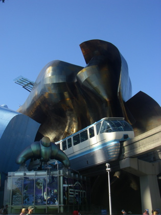 The Monorail running into the EMP
