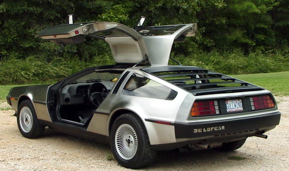 Delorean_DMC12 - All gull wing doors and stainless steel - But with a Renault engine hmmmm
