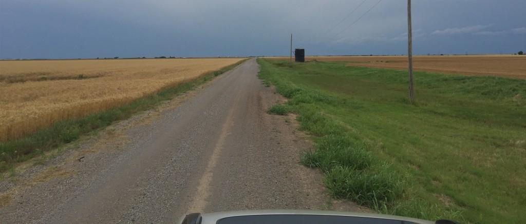 Along a section road, Komalty, Oklahoma