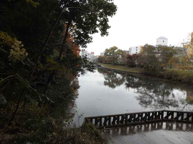 moat of kameoka castle ruins photo