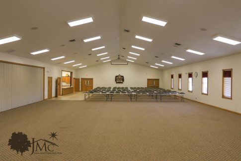 Church reception hall in Goshen, Indiana