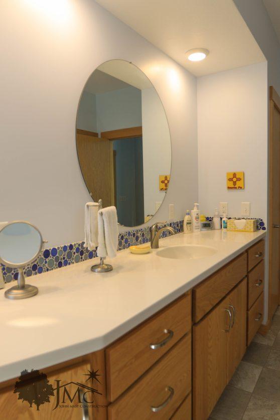 Master bathroom sink counter