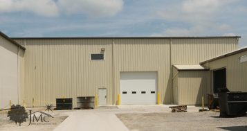 Connecting two steel buildings in Nappanee, Indiana