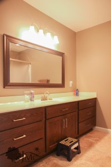 Large bathroom counter with sink in Mishawaka, Indiana