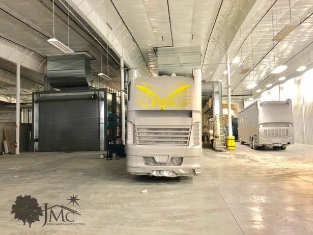Large RV paint booths in Nappanee, Indiana