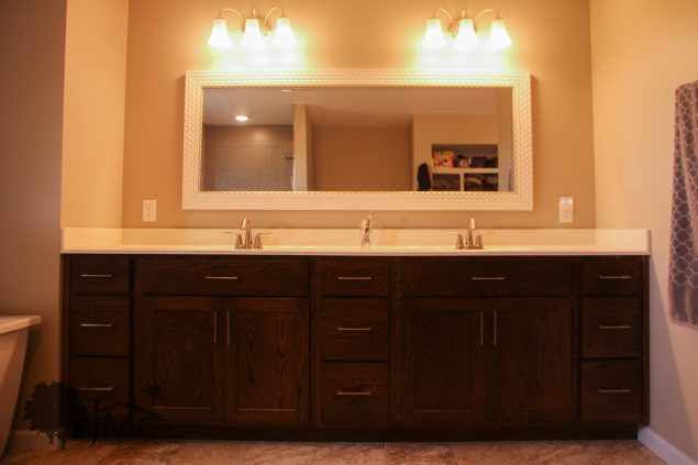Double sink in master bathroom Mishawaka, Indiana