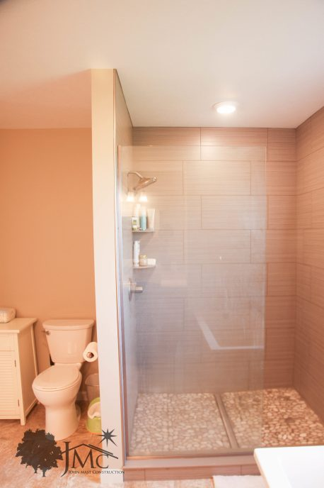 Shower in Master bathroom in Mishawaka, Indiana