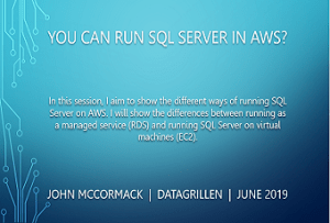 Running SQL Server on AWS