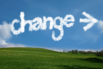 change - written in the clouds