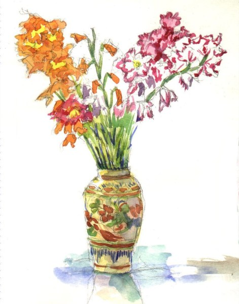 Gladiolus - Watercolor - 7 x 10 inches