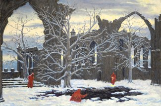 Norns At a Well - Oil/canvas - 24 x 36 inches