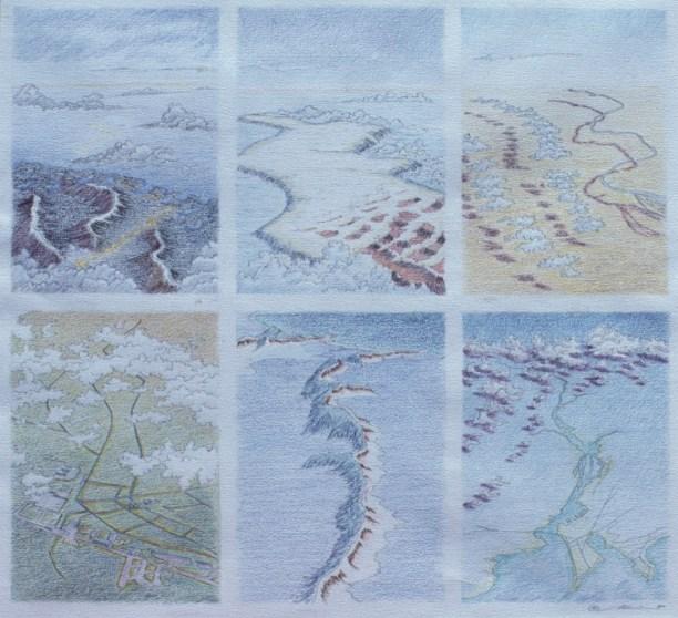Six Landscape Sketches - Pencil/paper - 18 x 24 inches