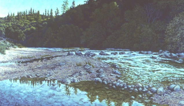 Bear River - Oil/canvas - 30 x 60 inches