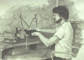 Daniel - Ink/paper - 9 x 12 inches